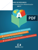 Livro de Resumos da 3º Jornada Internacional de Alfabetização