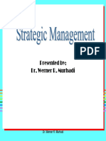 Strategic Formulation by Dr Werner