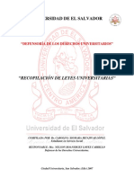 Recopilación de Legislación Universitaria (Defensoría)