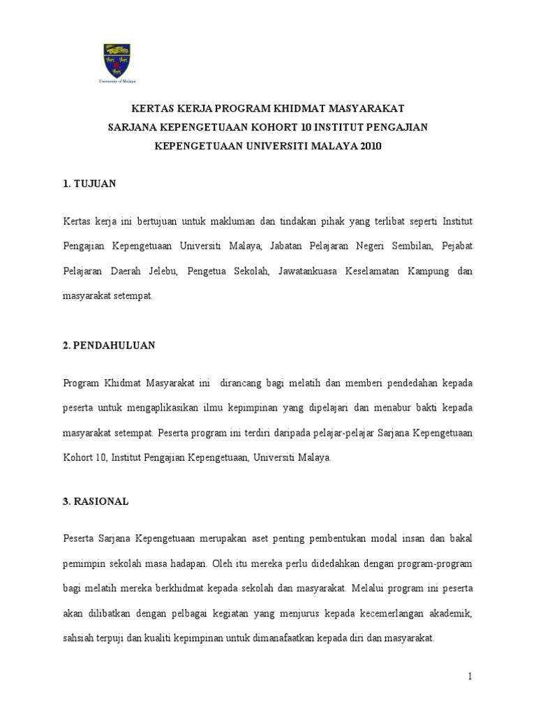 Contoh Laporan Program Khidmat Masyarakat Universiti