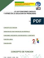 PRESENTACIÓN DEL TEMA FUNCIONES LINEALES Y AFINES