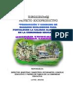 PROYECTO SOCIOPRODUCTIVO DE LAS UNIDADES EDUCATIVAS