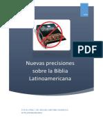 Nuevas Precisiones Sobre La Biblia Latinoamericana