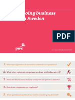 Doing Business in Sweden 2018