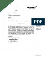 CERTIFICADO Prueba hidrostatica PDF