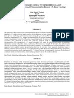 ANALISIS DAN DESAIN SISTEM INFORMASI PEMASARAN (Studi Pada Sistem Informasi Pemasaran Untuk Promosi CV. Intan Catering)