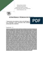 Depoimento Dos Calouros 2018 - Estratégias e Técnicas de Estudo