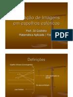 Física - Óptica - Formação de Imagens em Espelhos Esféricos