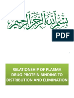 Relationship of Plasma Drug-protein Binding to Distribution and Elimination