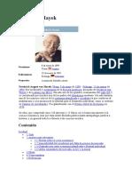 Friedrich Hayek w