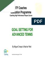 GOAL SETTING FOR ADVANCED TENNIS
