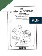 Cuadernillo de La Prueba de Funciones Básicas