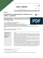Automedicación, Autoprescripción y Medicación «Por poderes en pediatria