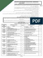 Date Sheet SSC Annual Exam 2019 FINAL