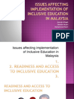 Issues Affecting Implementation of Inclusive Education in Malaysia