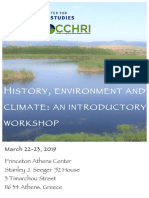 History, Environment and Climate - An Introductory Workshop (2019 Athens)