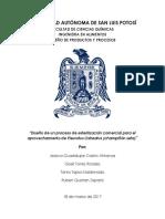 Diseño de un proceso de esterilización comercial para el aprovechamiento de Pleurotus Ostreatus (champiñón seta)