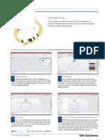 RhinoGold 4.0 - Level 1 - Tutorial 009 - Extrude Ring