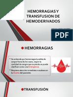 Hemorragias y Transfusion de Hemoderivados