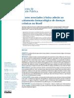 Fatores Relacionados à Baixa Adesão de Tratamentos Crônicos No Brasil