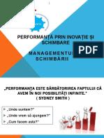 Performanta Prin Inovatie Si Schimbare 1