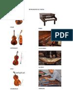Instrumentos de Cuerda, Viento, Percusion Entre Otros