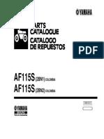 Catalogo de Partes Moto Yamaha Fino 115 AF115S 2bn2 Modelo 2013