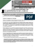 FP en el anteproyecto de la LOMCE