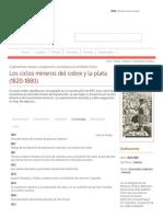 Los Ciclos Mineros Del Cobre y La Plata (1820-1880) - Memoria Chilena, Biblioteca Nacional de Chile