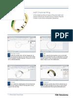 RhinoGold 4.0 - Level 1 - Tutorial 014P - Half Channel Ring