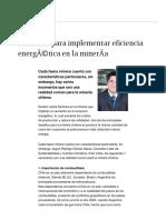 7 Razones Para Implementar Eficiencia Energética en La Minería