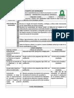 parámetros evaluaciones