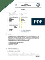 Silabo de Matemática Básica - Educación Inicial.docx