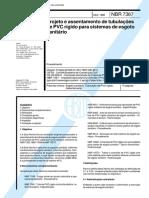 NBR 7367 - 1988 - Projeto e assentamento de tubulações de PVC rígido para sistemas de esgoto sanitário.pdf