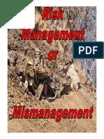 7 Risk Management or Mismanagement