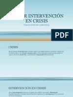 Taller Intervención en Crisis