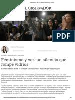 Feminismo y Voz_ Un Silencio Que Rompe Vidrios
