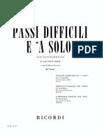 Passi Difficili e a Solo Da Opere Liriche Italiane 4 Volume (Ricordi) (1)