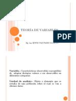 TEORIA DE VARIABLES