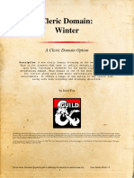 Cleric Winter Domain for DnD