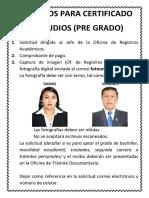 Requisitos Certificado Estudios-UNCP