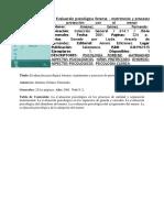 Evaluacion Psicologica Forense Jimenez Gomez Tomo 2