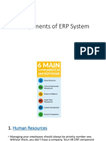 Components of an ERP