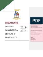 Reglamento Convivencia y Pro Tocolos Escuela Bollilco 2018