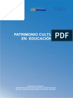 Patrimonio Cultural en Educación
