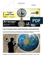 Metal Detecting List of Countries and Laws