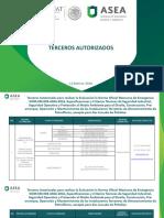 Terceros Autorizados ASEA NOM EM 003 ASEA 2016