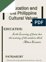 Educational Phillipine Cultural Values56