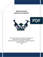 KNB Scholarship Application Guidelines