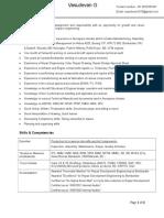 Updated Resume Vasudevan